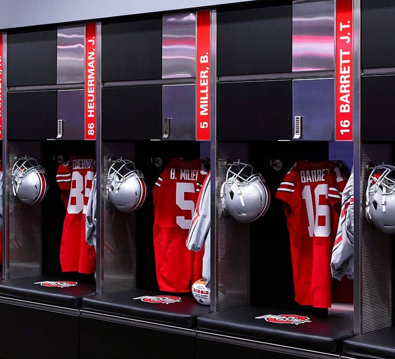 Woody Hayes Athletic Center Locker Room